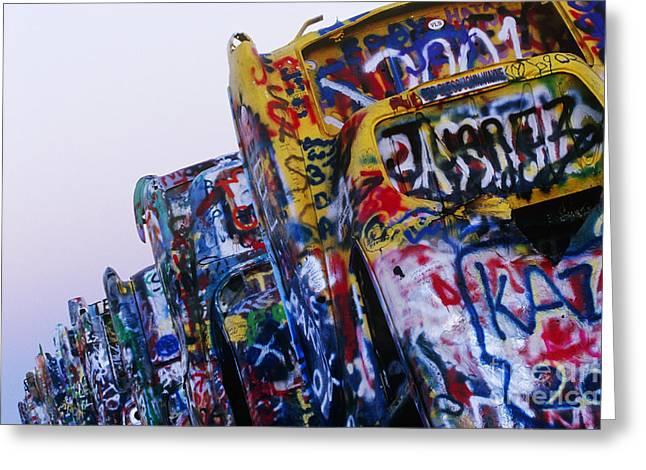 Amarillo Greeting Cards - Cadillac Ranch Greeting Card by Jeremy Woodhouse