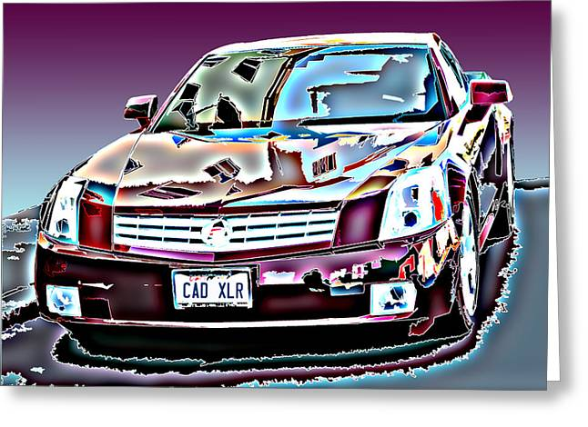 Sheats Greeting Cards - Cadillac XLR Greeting Card by Samuel Sheats