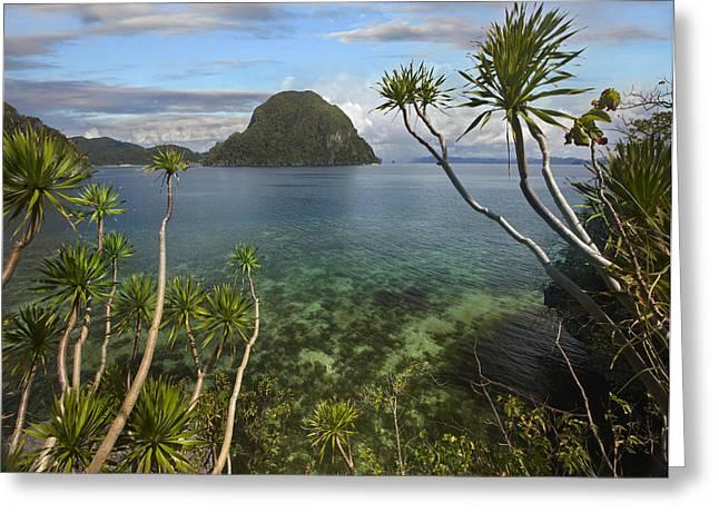 El-nido Greeting Cards - Cadlao Island Near El Nido Palawan Greeting Card by Tim Fitzharris