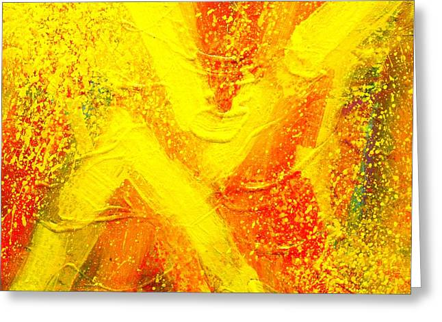 Abstract Movement Greeting Cards - Cadmium Chevrons Greeting Card by John  Nolan