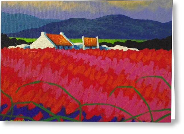 Cottage Print Greeting Cards - Cadmium Meadow Greeting Card by John  Nolan