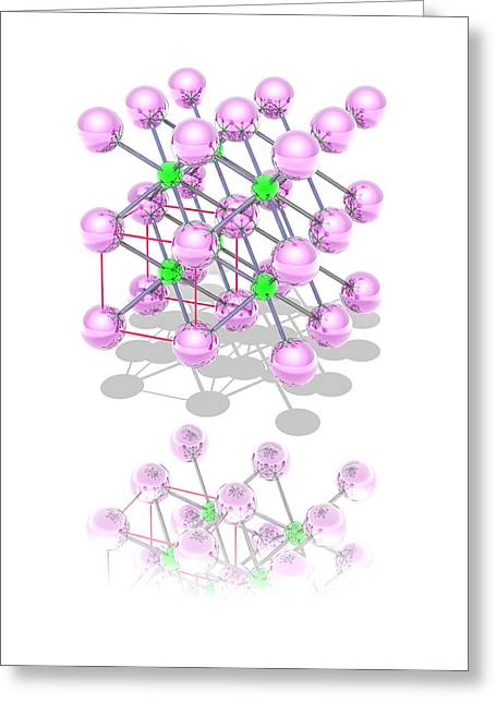 Chemical Compound Greeting Cards - Caesium Chloride Greeting Card by Laguna Design