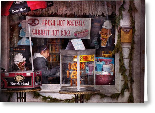 Cafe - Clinton NJ - The luncheonette  Greeting Card by Mike Savad