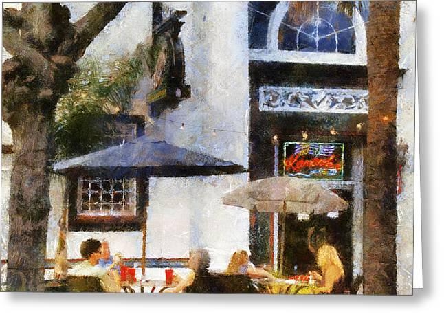 Cafe Greeting Card by Francesa Miller