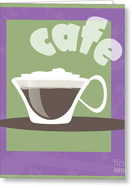 Froth Greeting Cards - Cafe Greeting Card by HD Connelly