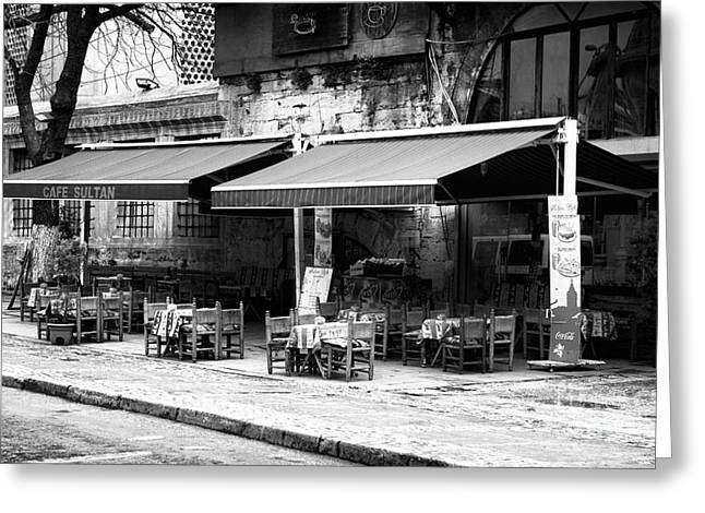 Sultanhmet Greeting Cards - Cafe Sultan Greeting Card by John Rizzuto