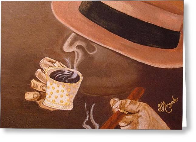 Brenda Greeting Cards - Cafesito Greeting Card by Brenda Morgado
