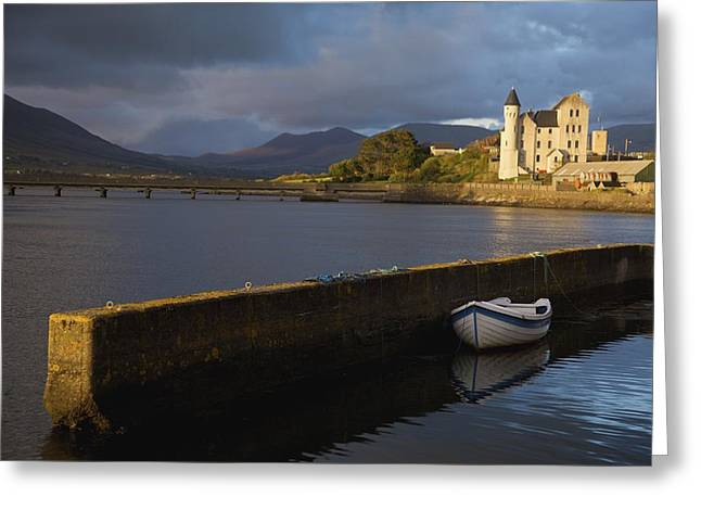 Harbour Wall Greeting Cards - Caherciveen, County Kerry, Ireland The Greeting Card by Patrick Swan