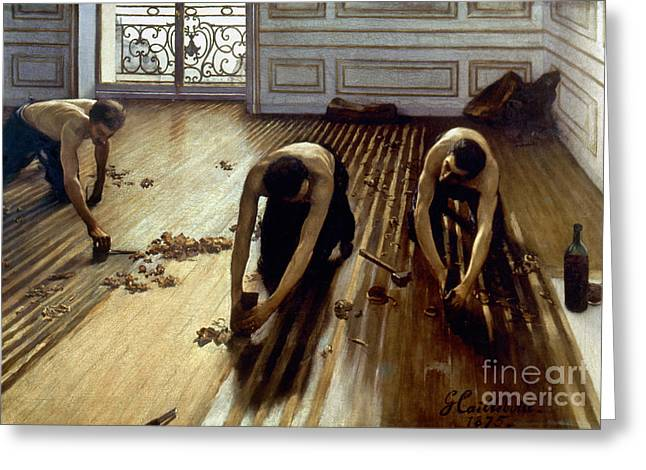 1875 Greeting Cards - Caillebotte: Planers, 1875 Greeting Card by Granger