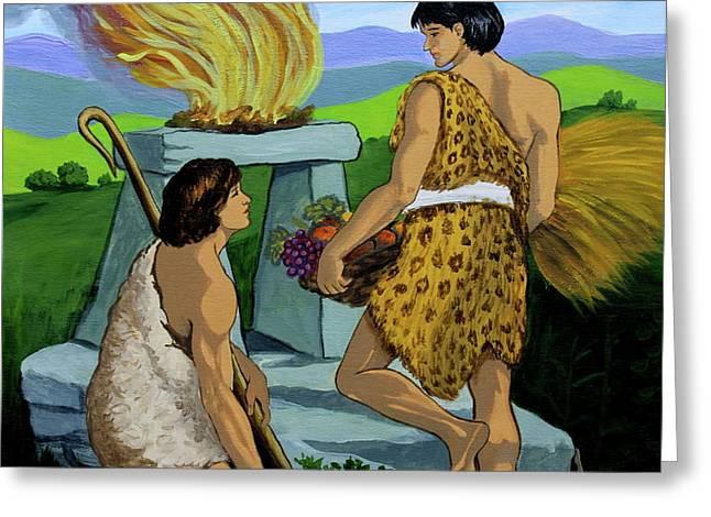Cain and Abel Greeting Card by Karon Melillo DeVega