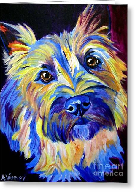 Cairn Terrier Greeting Cards - Cairn - Neiman Greeting Card by Alicia VanNoy Call