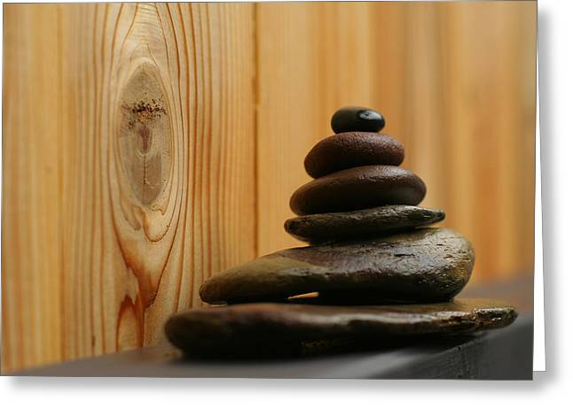 Therapy Greeting Cards - Cairn Meditation Stones Greeting Card by Heidi Hermes