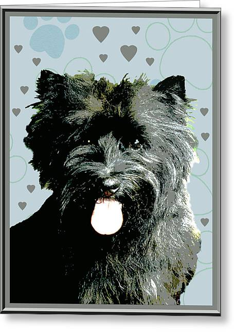 Cairn Terrier Greeting Card by One Rude Dawg Orcutt