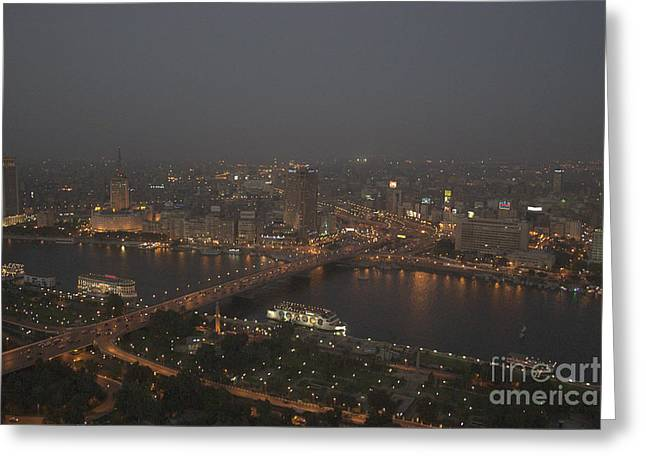 Cairo Greeting Cards - Cairo Smog Greeting Card by Darcy Michaelchuk
