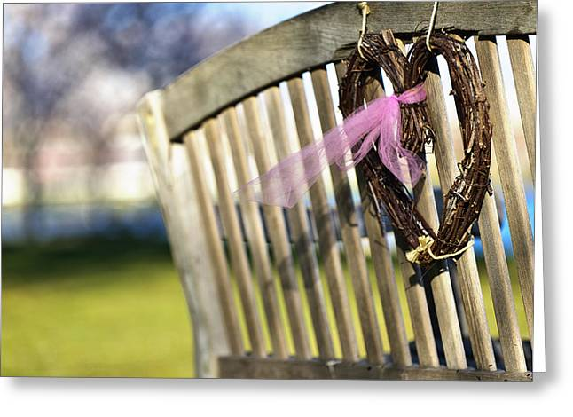 Babylon Greeting Cards - Caitlins Bench Greeting Card by Vicki Jauron