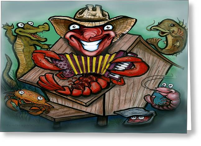 Zydeco Greeting Cards - Cajun Critters Greeting Card by Kevin Middleton