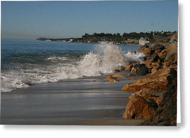 Oceon Greeting Cards - Calabasas  Beach Greeting Card by Horst Duesterwald