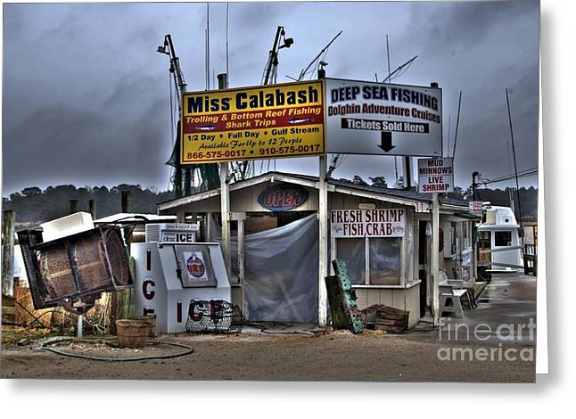 Photographers Decatur Greeting Cards - Calabash Bait Shop Greeting Card by Corky Willis Atlanta Photography