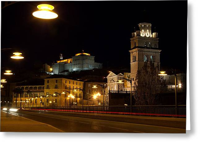 Calahorra Cathedral at night Greeting Card by RicardMN Photography