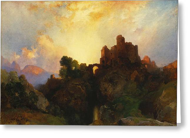 Rural Schools Paintings Greeting Cards - Caledonia Greeting Card by Thomas Moran