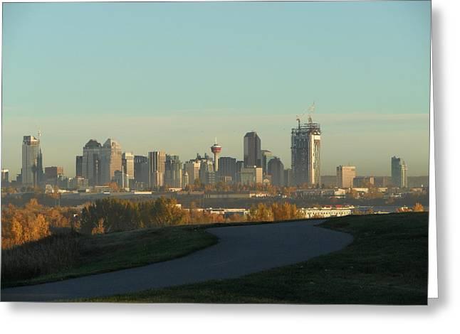 Lynnview Greeting Cards - Calgary Rising Greeting Card by Mark Lehar