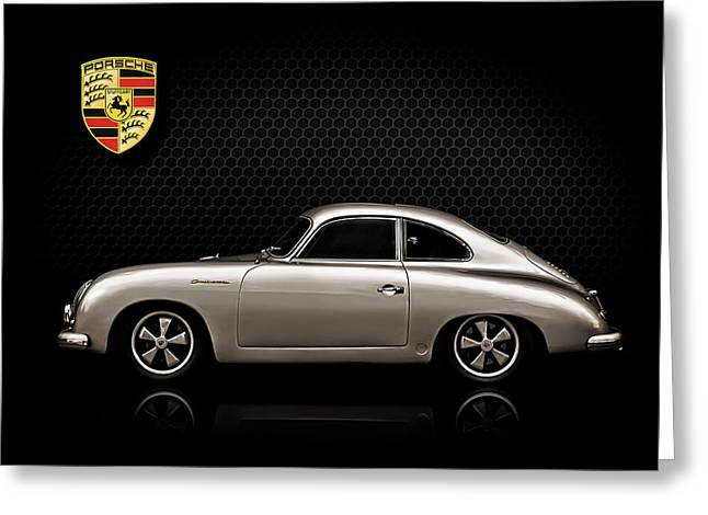 Classic Porsche 356 Greeting Cards - Caliber 356 Greeting Card by Douglas Pittman