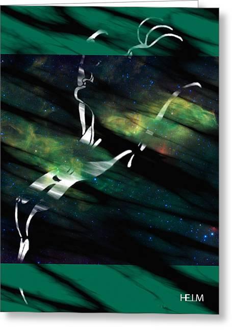 Nude Pyrography Greeting Cards - Caliente aurora Greeting Card by Mayhem Mediums