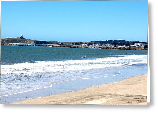 Carolyn Donnell Greeting Cards - California Beach at El Granada Greeting Card by Carolyn Donnell
