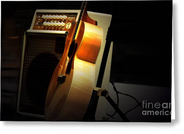 Amplifier Greeting Cards - California Blonde  Greeting Card by Steven  Digman