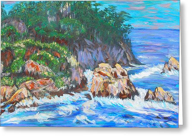Carolyn Donnell Greeting Cards - California Coast Greeting Card by Carolyn Donnell
