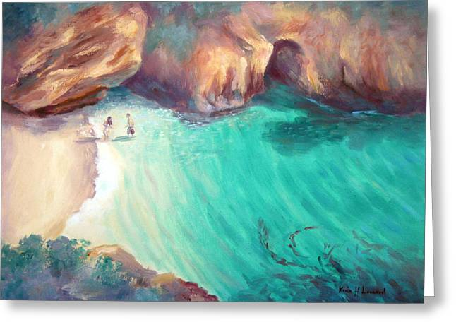 China Cove Greeting Cards - California Dreaming Greeting Card by Karin  Leonard