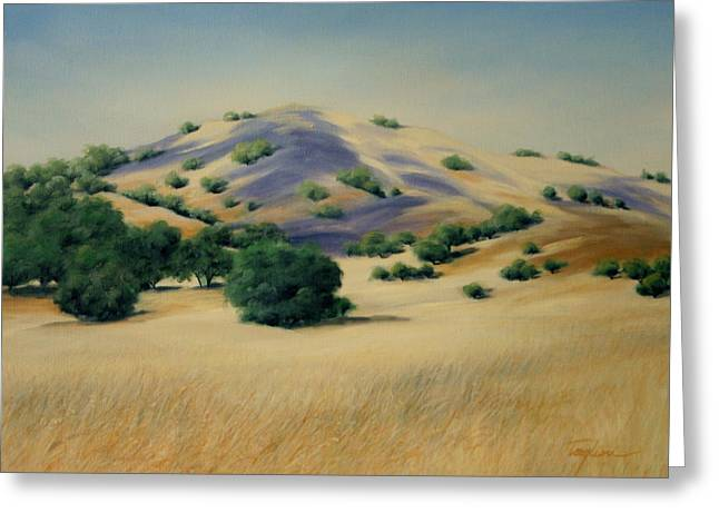 Print Greeting Cards - California Gold Greeting Card by Mary Taglieri