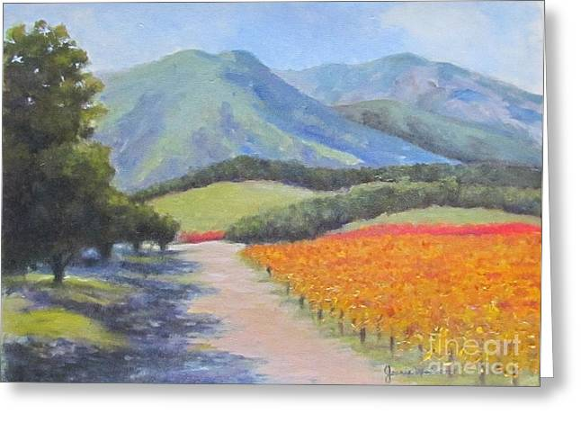 California Greeting Card by Jeanie Watson