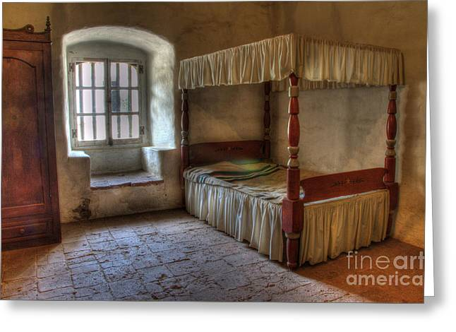 California Mission La Purisima Bedroom Greeting Card by Bob Christopher