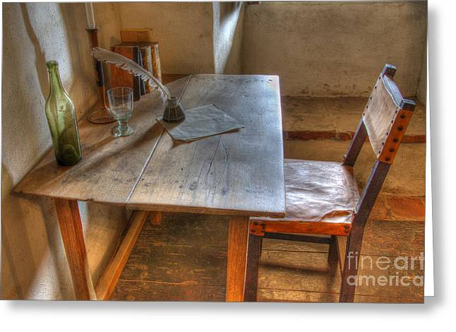American Heritage Greeting Cards - California Mission La Purisima Desk Greeting Card by Bob Christopher