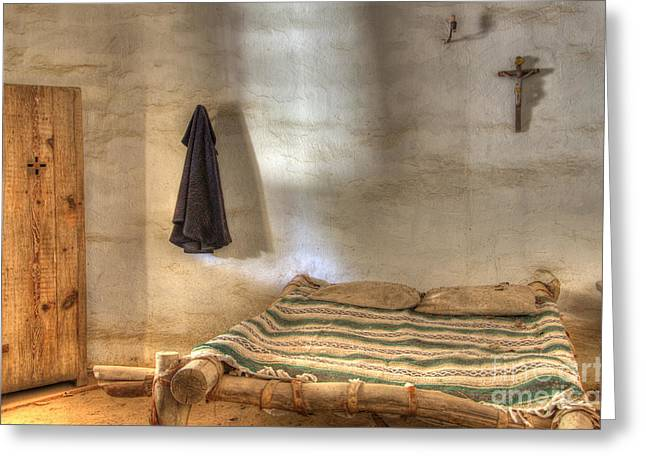 American Heritage Greeting Cards - California Mission La Purisima Private Quarters Greeting Card by Bob Christopher