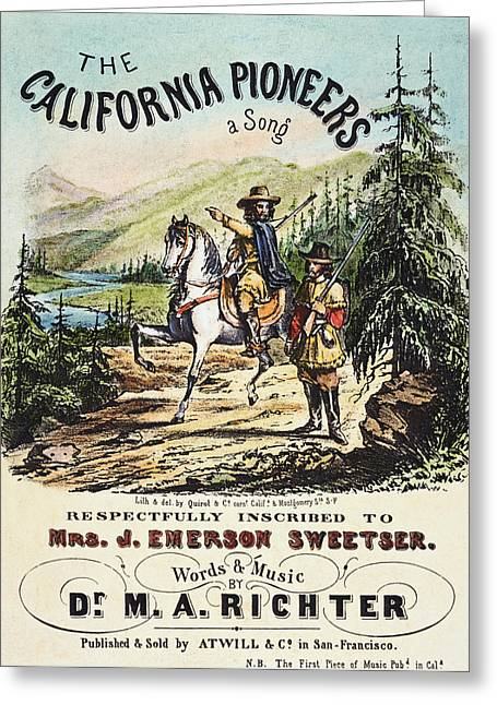 Richter Greeting Cards - CALIFORNIA PIONEERS, c1850 Greeting Card by Granger