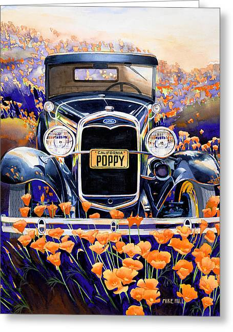 California Poppy Greeting Card by Mike Hill