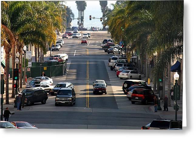 Ventura California Greeting Cards - California Street Greeting Card by Henrik Lehnerer