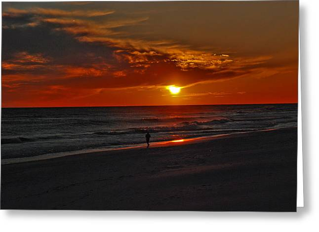 Sunset At The Beach Greeting Cards - California Sun Greeting Card by Susanne Van Hulst