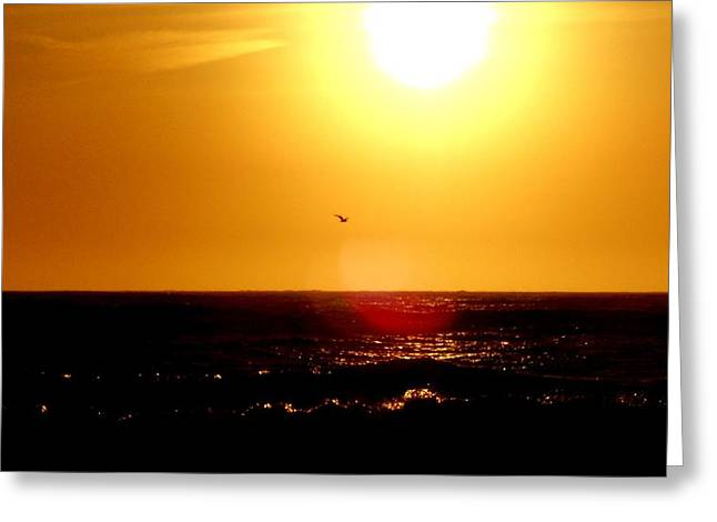 Texture Snow Scapes Greeting Cards - California Sunset Greeting Card by J Perez