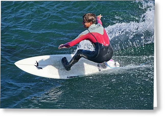 Ten Speed Greeting Cards - California Surfer Greeting Card by Brendan Reals