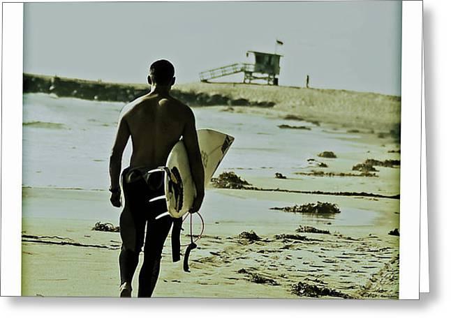 California Surfer Greeting Card by Scott Pellegrin