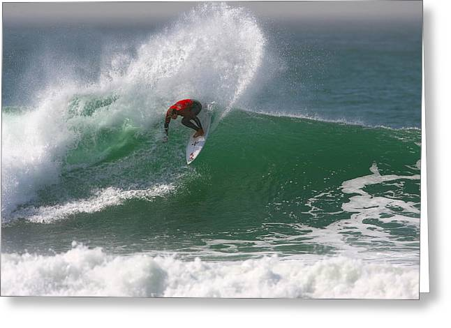 Whitewater Greeting Cards - California Surfing 3 Greeting Card by Larry Marshall