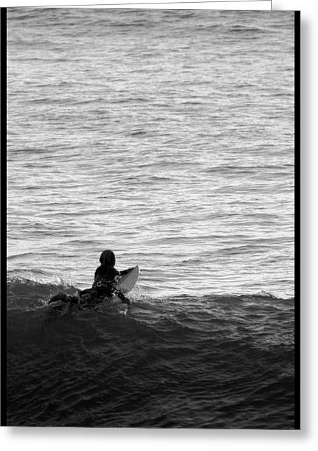 Surfing In San Clemente Greeting Cards - California Surfing Greeting Card by Brad Scott
