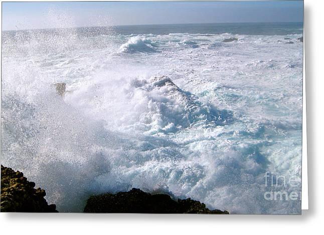 Point Lobos Greeting Cards - California Wave Greeting Card by Iris Vanessa Hood