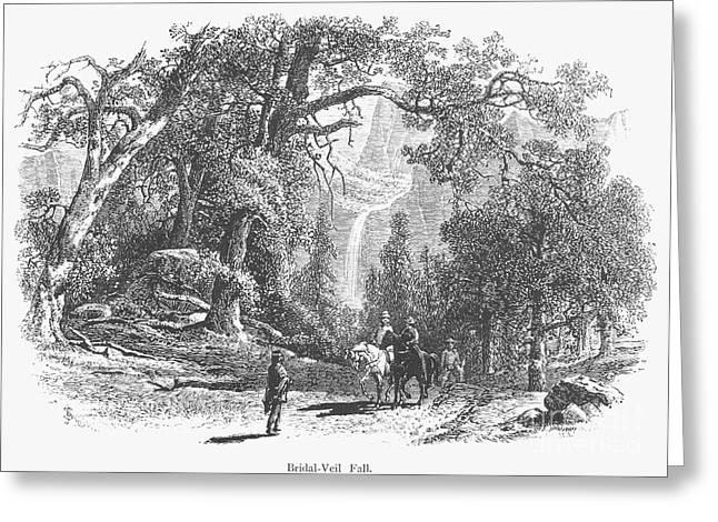 1874 Greeting Cards - California: Yosemite, 1874 Greeting Card by Granger