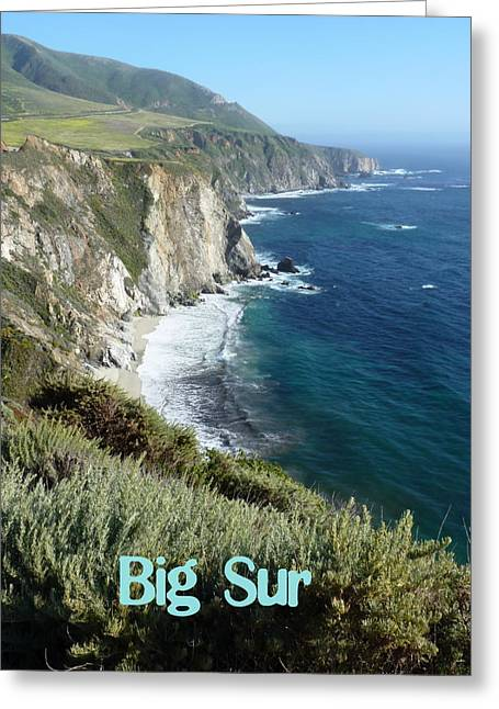 Coast Highway One Greeting Cards - Californias Big Sur  Greeting Card by Carla Parris