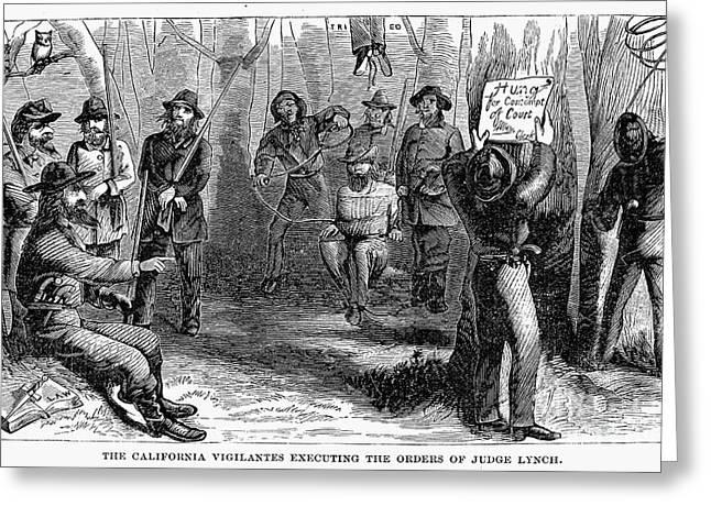 Vigilantes Greeting Cards - Califronia Vigilantes Greeting Card by Granger