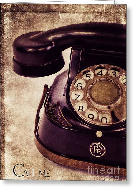 Phones Greeting Cards - Call me Greeting Card by Angela Doelling AD DESIGN Photo and PhotoArt
